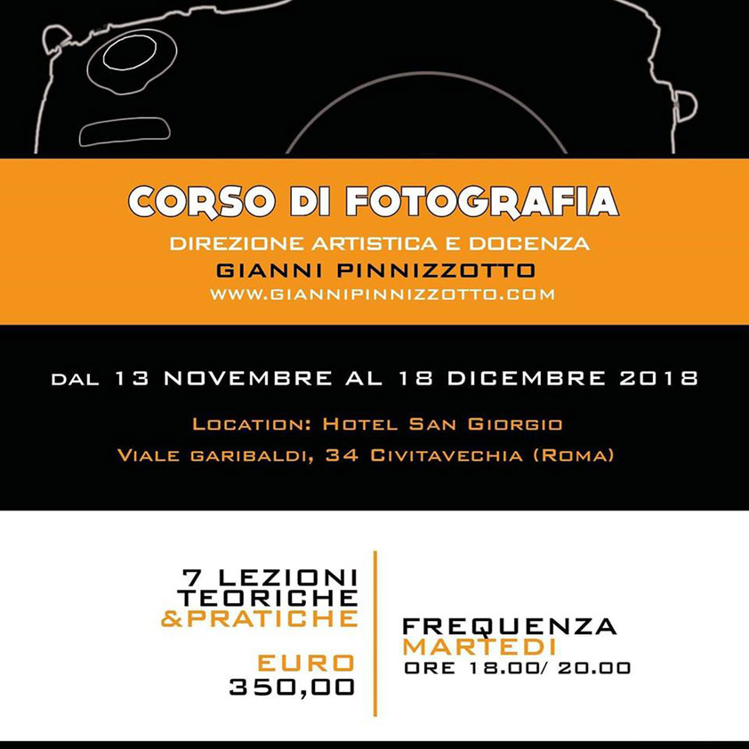 Corso Fotografia - Gianni Pinnizzotto - Hotel San Giorgio