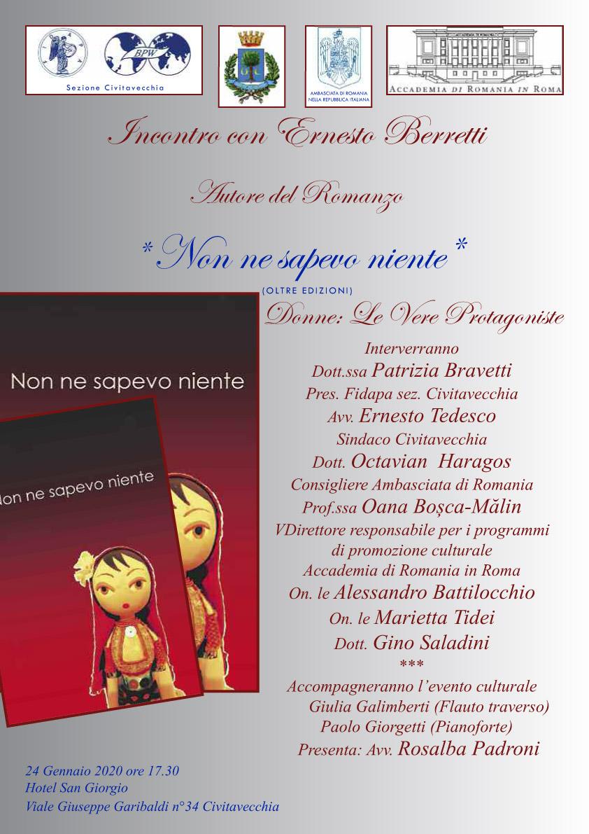 Non ne sapevo niente - Incontro con Ernesto Berretti - Hotel San Giorgio