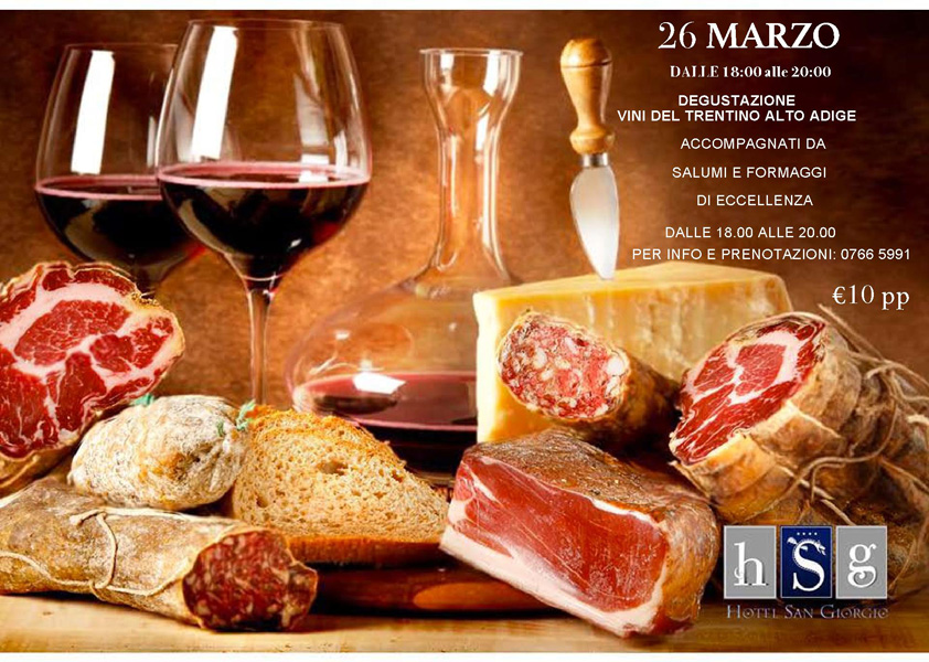 Degustazione Vini della Regione Piemonte - Hotel San Giorgio